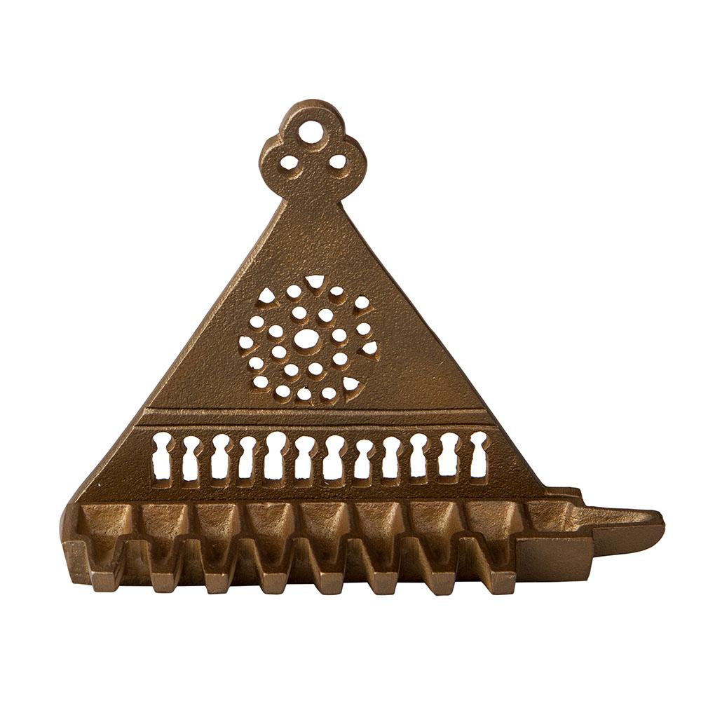 East-and-West Hanukkah Lamp (cast Brass) – Bronze
