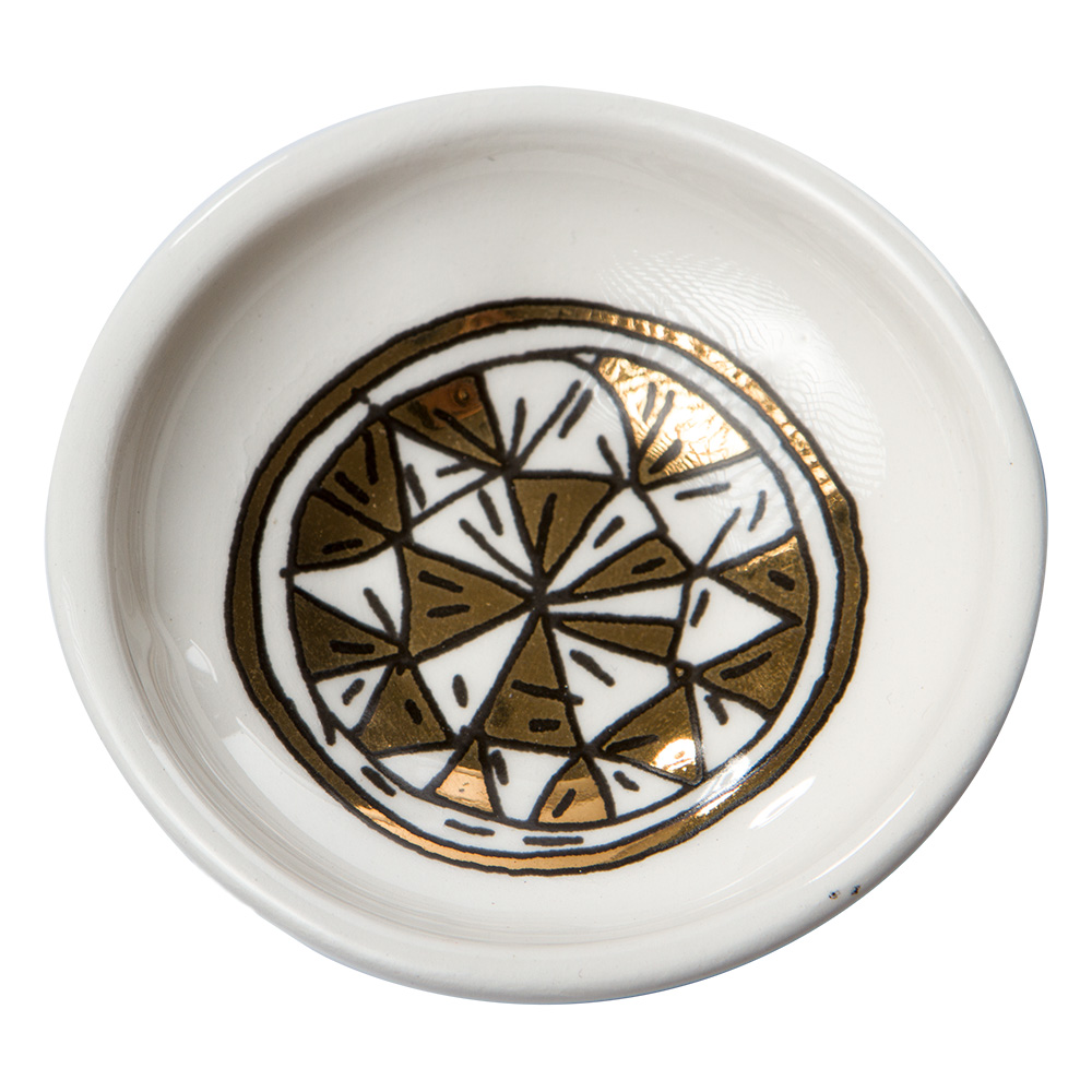 Bowls For The Pithom And Ramses Passover Plate (gold)