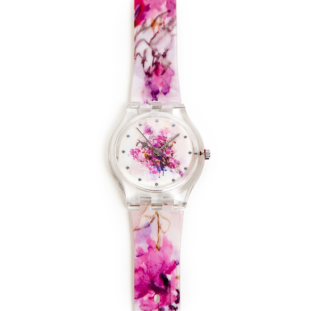 Anna Ticho Watch – Violet Bougainvillea