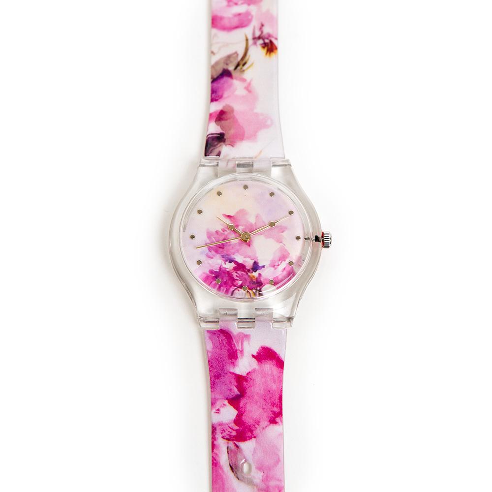 Anna Ticho Watch – Pink Bougainvillea