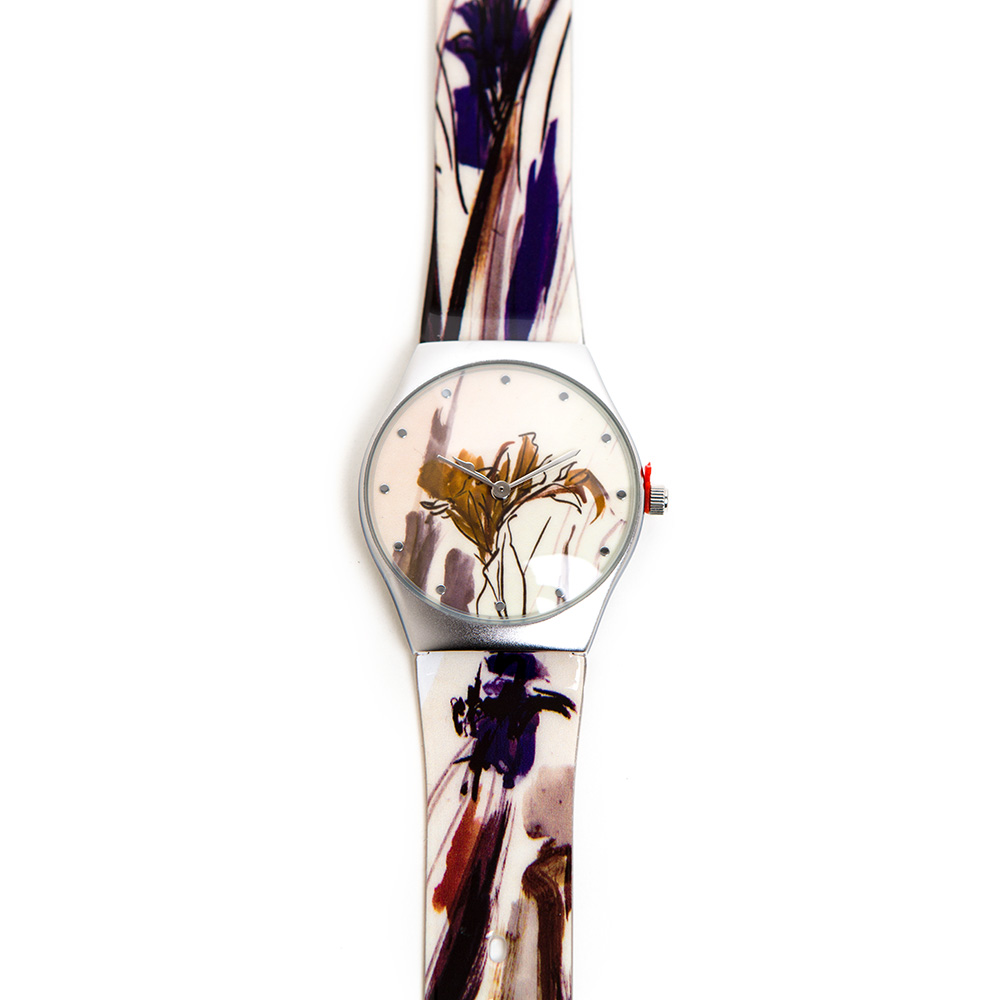 Anna Ticho Watch – Blue And Yellow Flowers