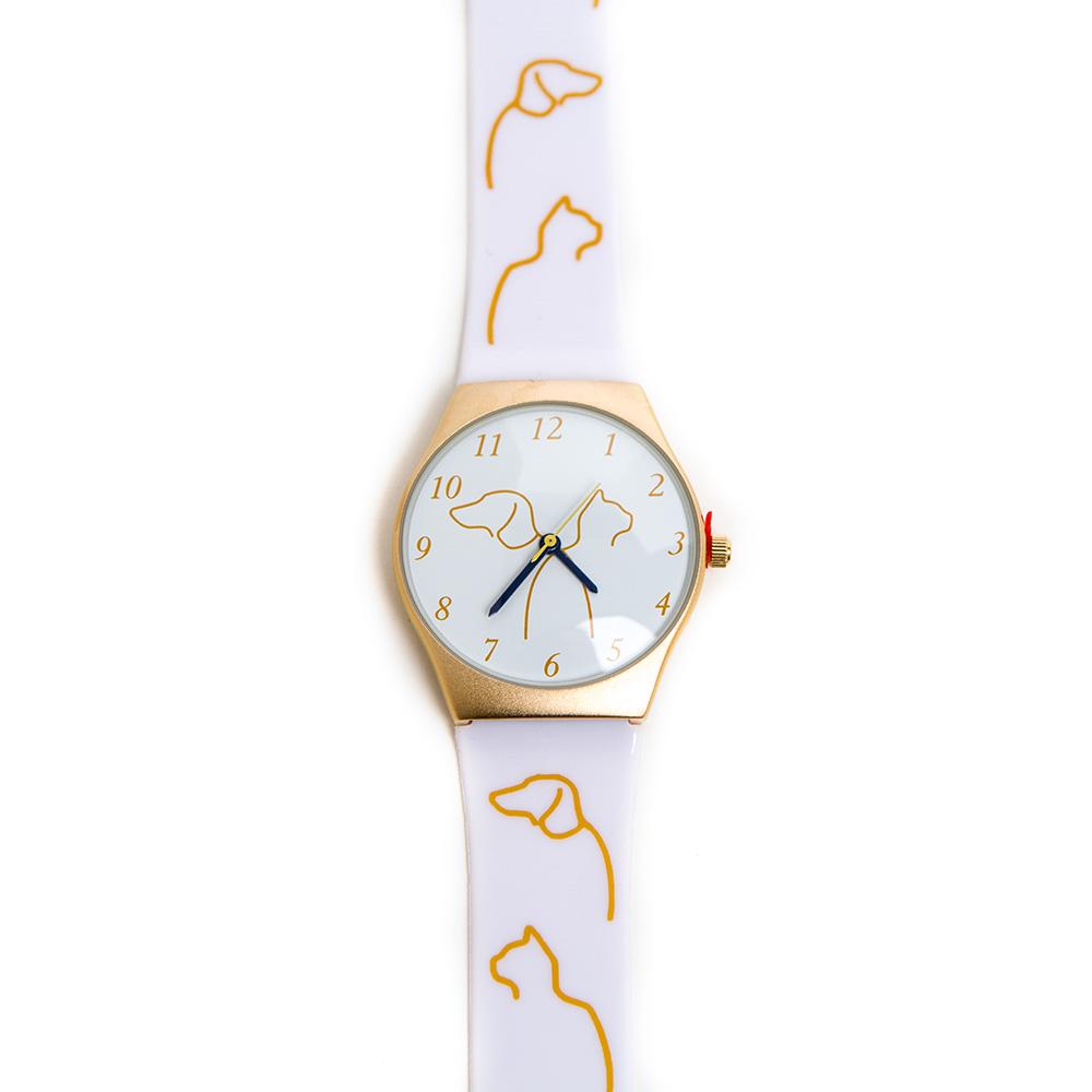 Cat & Dog Watch, White
