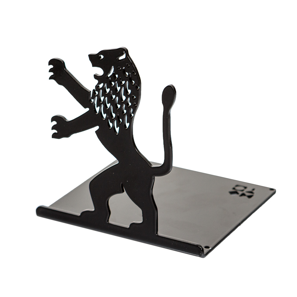 Lion-Shaped Bookend (Black)