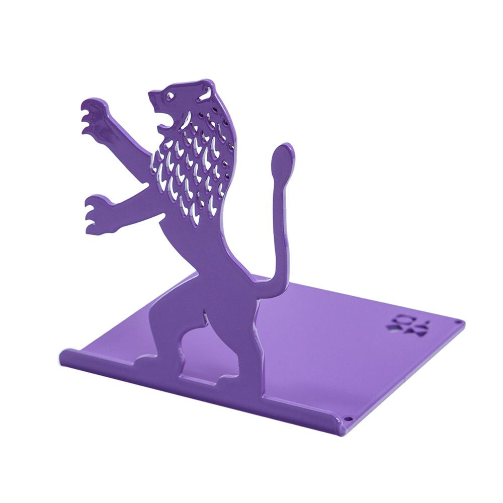 Lion-Shaped Bookend (Purple)