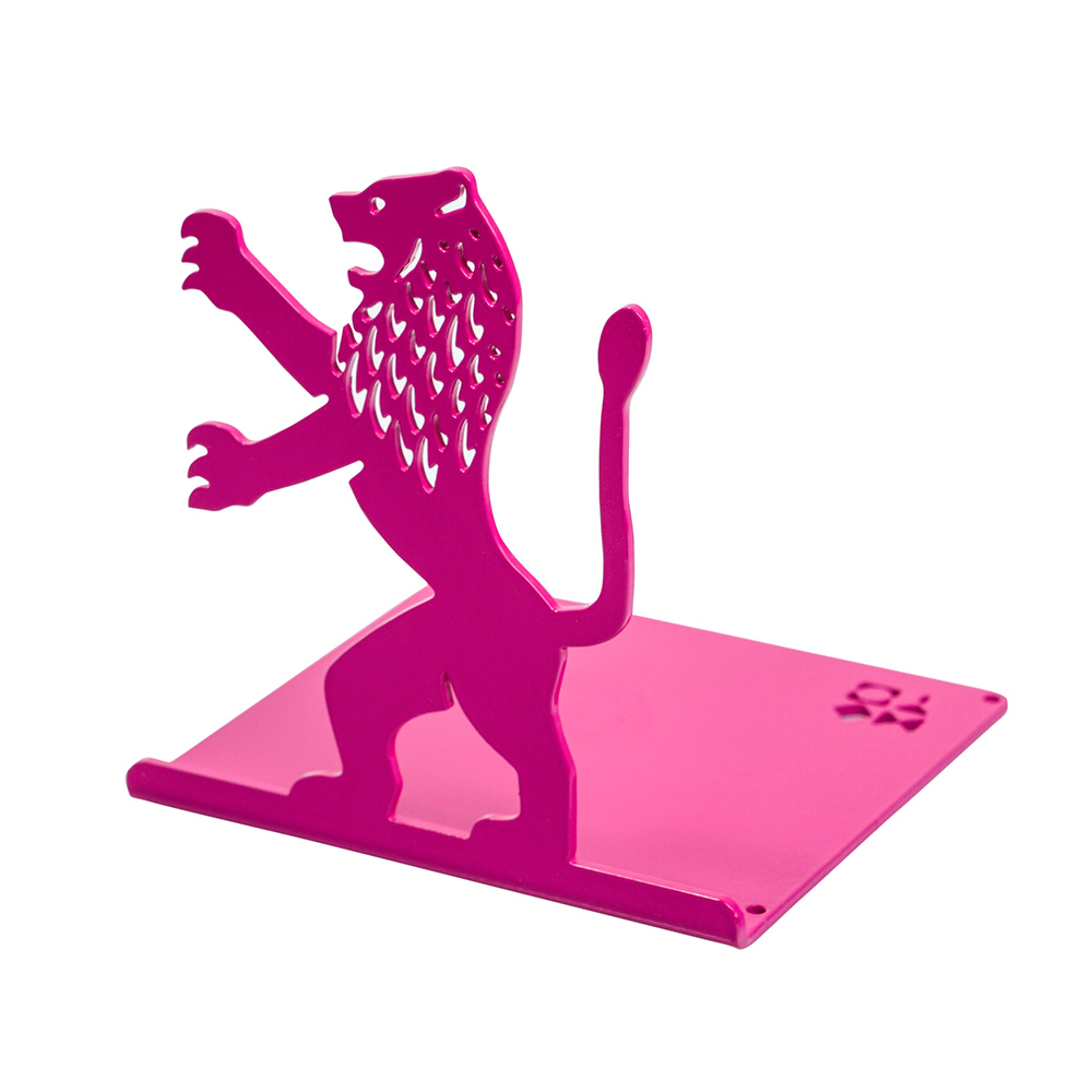 Lion-Shaped Bookend (Pink)