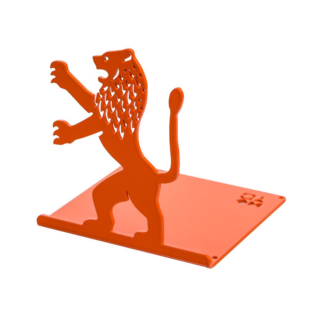 Lion-Shaped Bookend (Orange)
