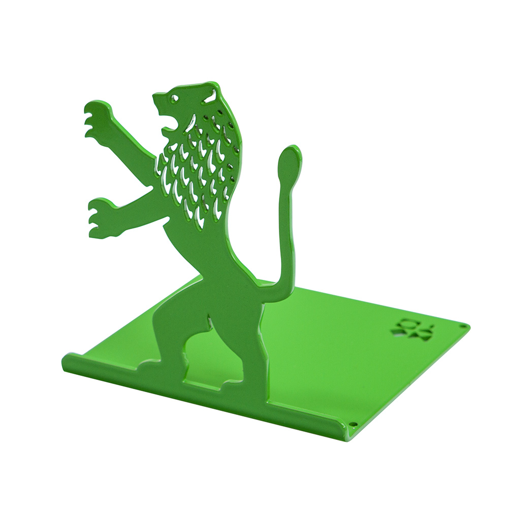 Lion-Shaped Bookend (Green)