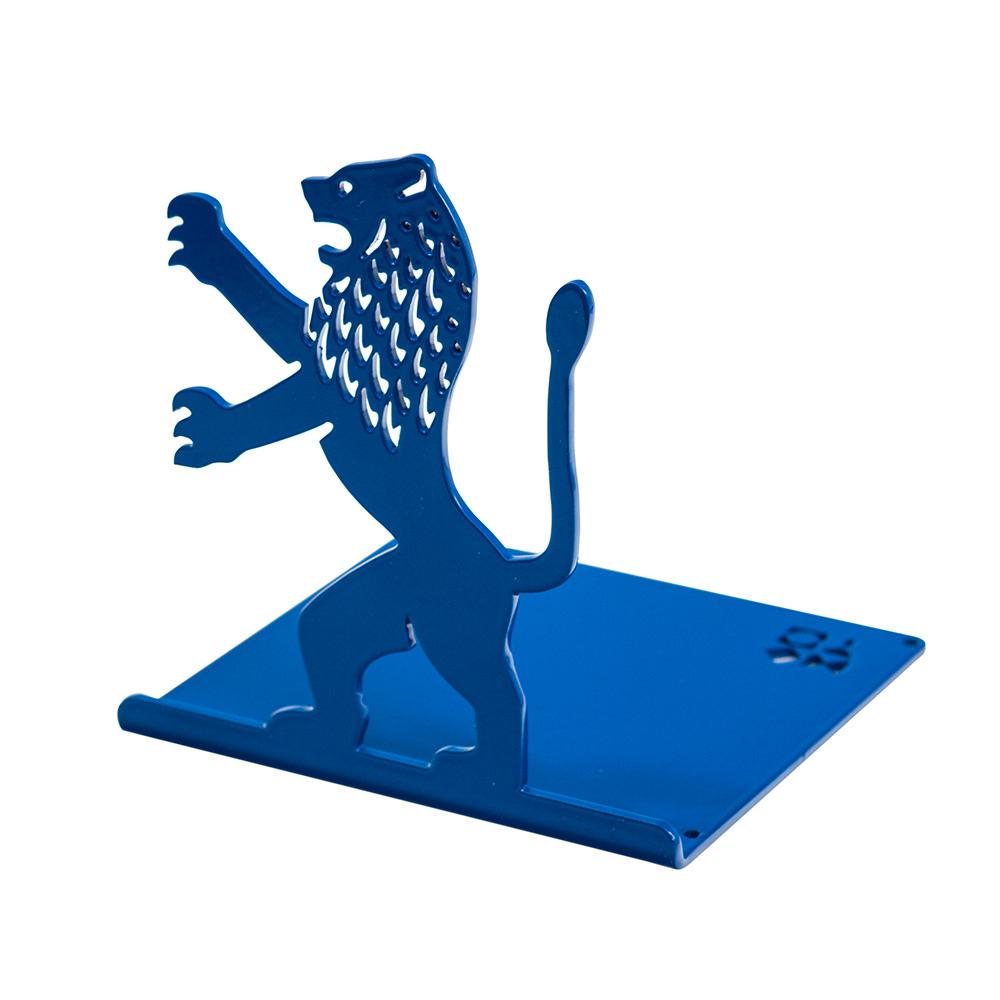 Lion-Shaped Bookend (Blue)