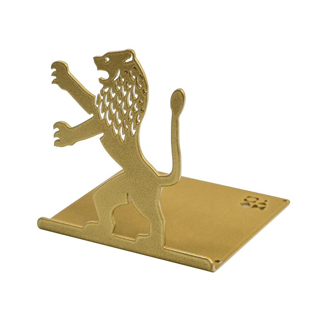 Lion-Shaped Bookend (Gold)