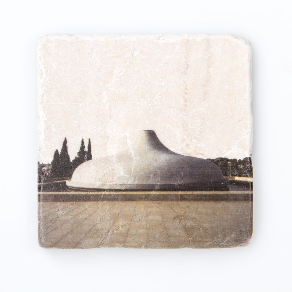Shrine Of The Book Ceramic Coaster