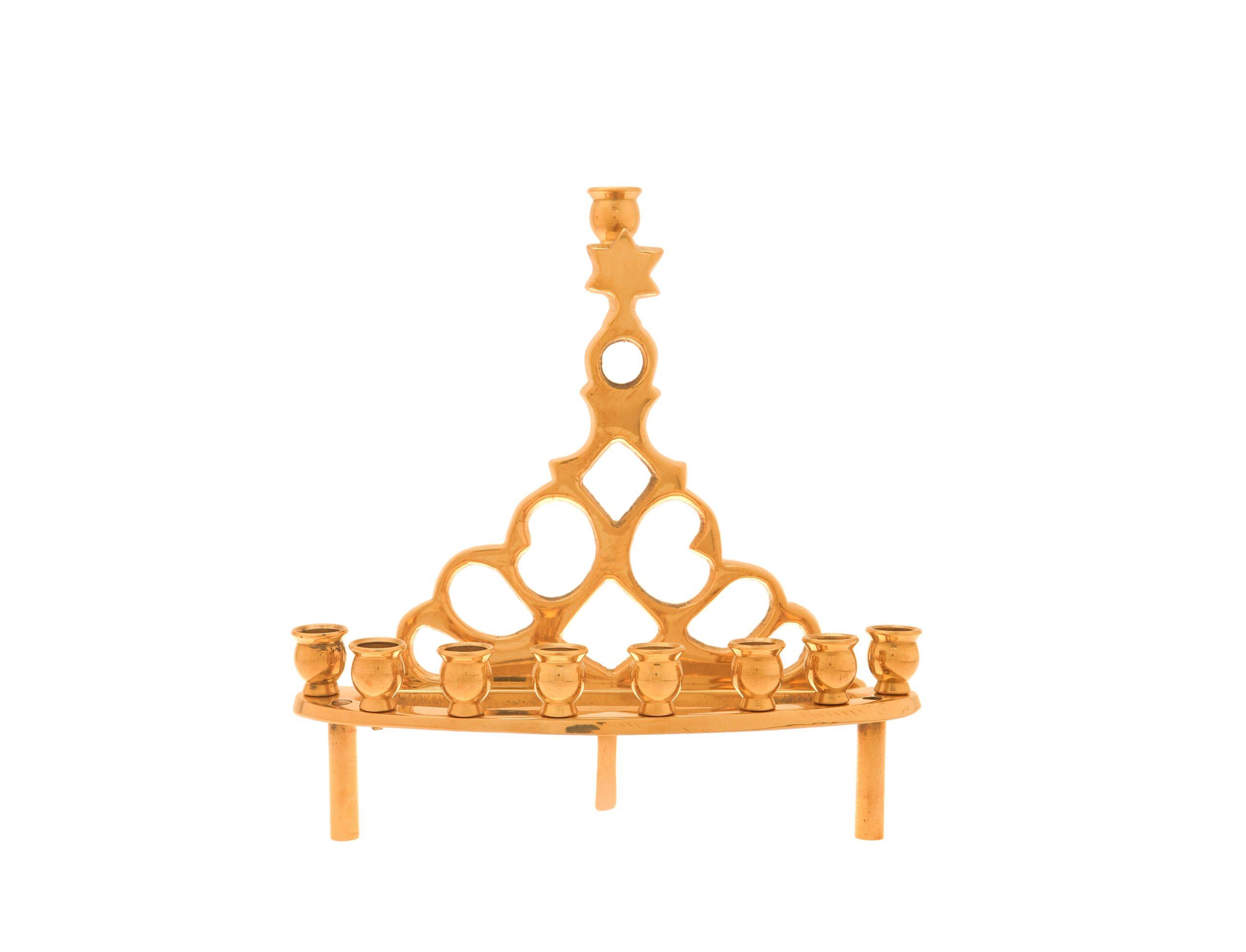 Small Hanukkah Lamp (cast Brass)