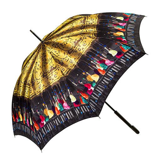 Umbrella With Tasseled Kerchief Design