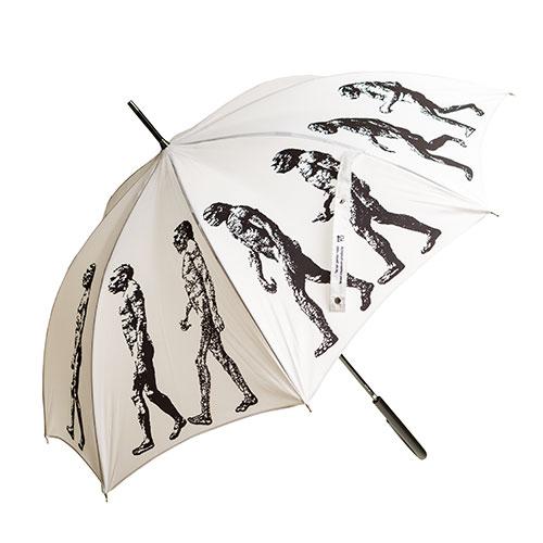 Umbrella With March Of Progress Design (white)