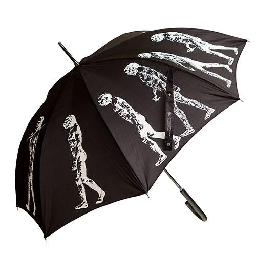 Umbrella With March Of Progress Design (black)