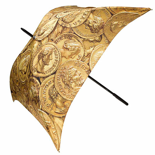 Roman Gold Coins Umbrella (square)