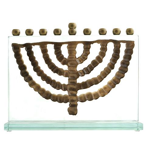 Glass Hanukkah Lamp