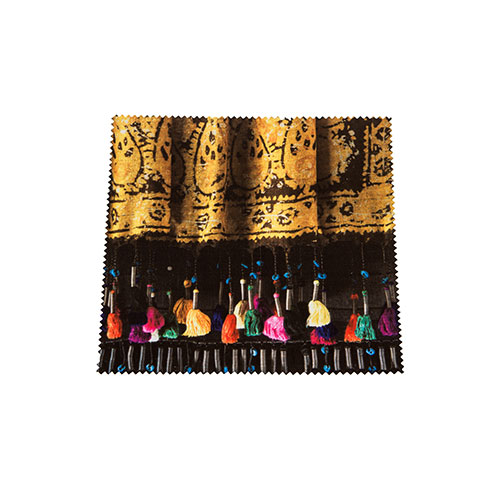 Microfiber Cloth For Cleaning Glasses – Colorful Tassel Pattern