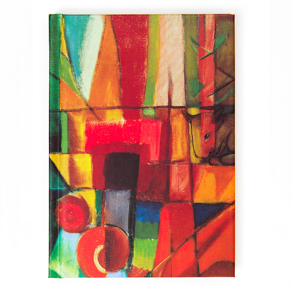 A6 Franz Marc Notebook: View Of House Dog And Cow