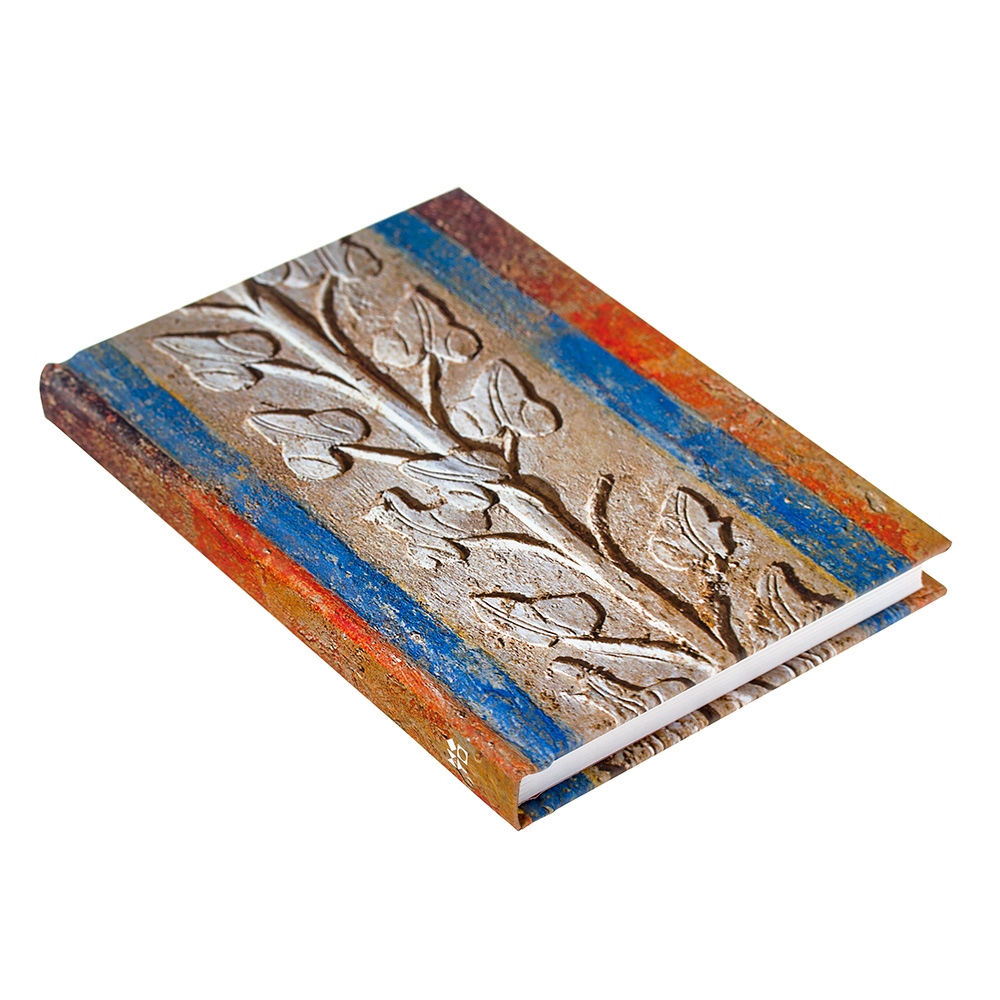 Notebook With Ancient Vegetal Motif
