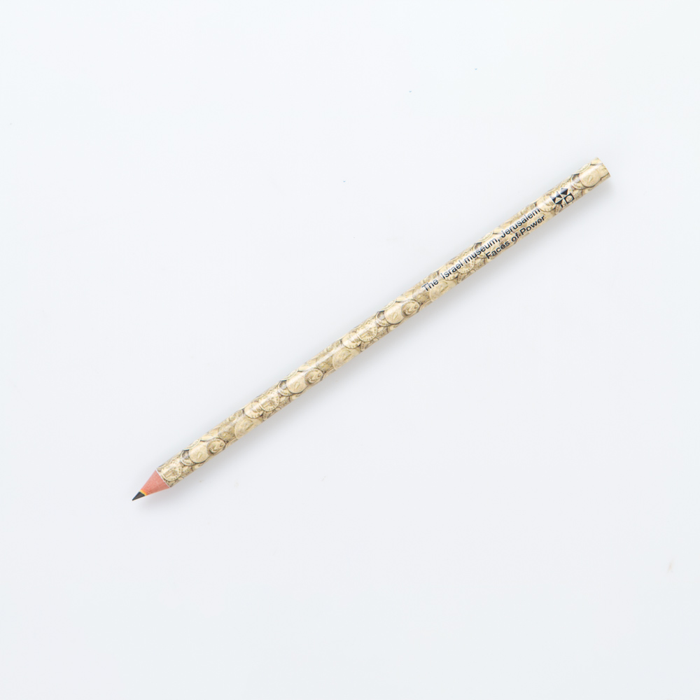 Pencil Decorated With Roman Gold Coin Pattern
