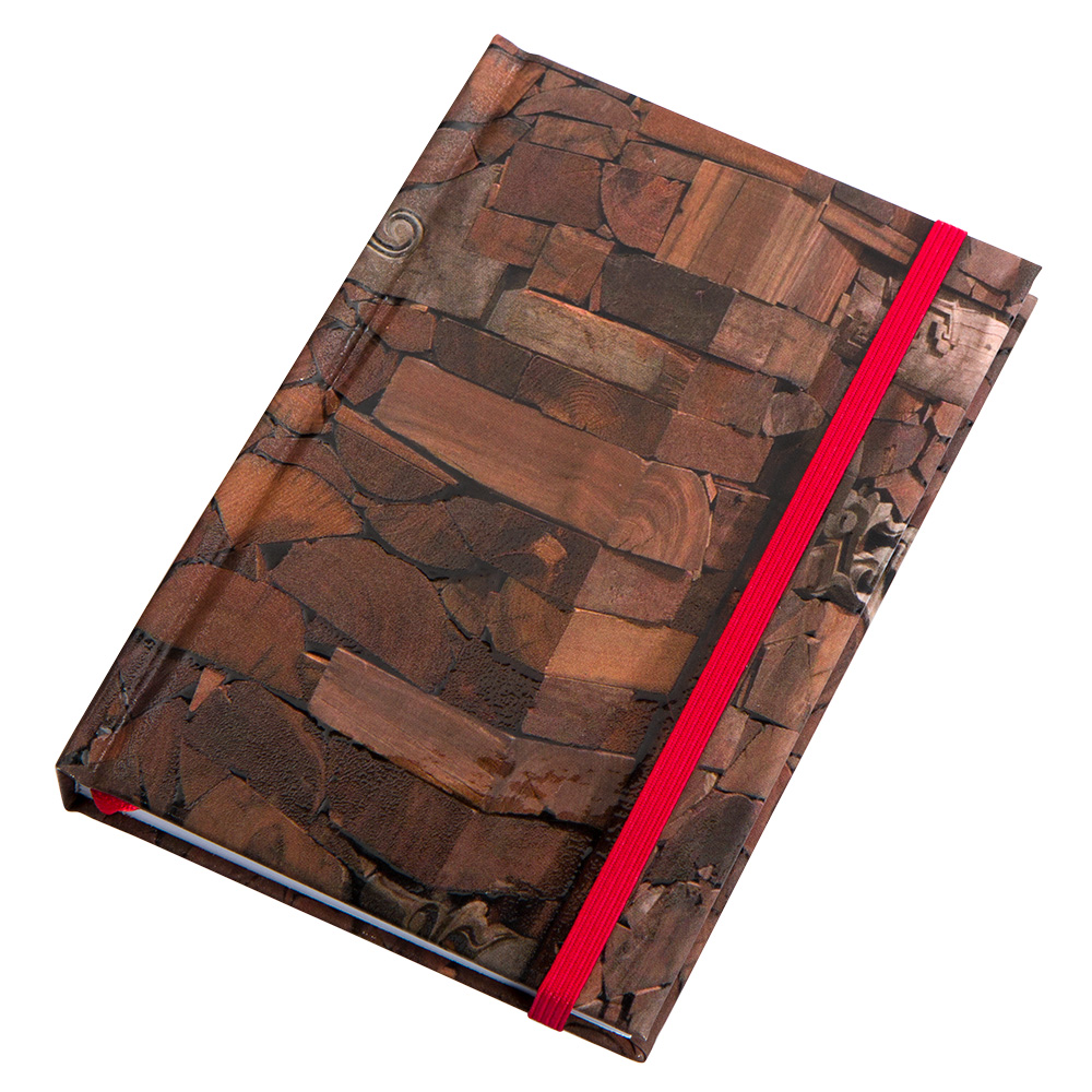 """14.5 X 9.5 Ai Weiwei """"Wood"""" Notebook With Elastic Band"""
