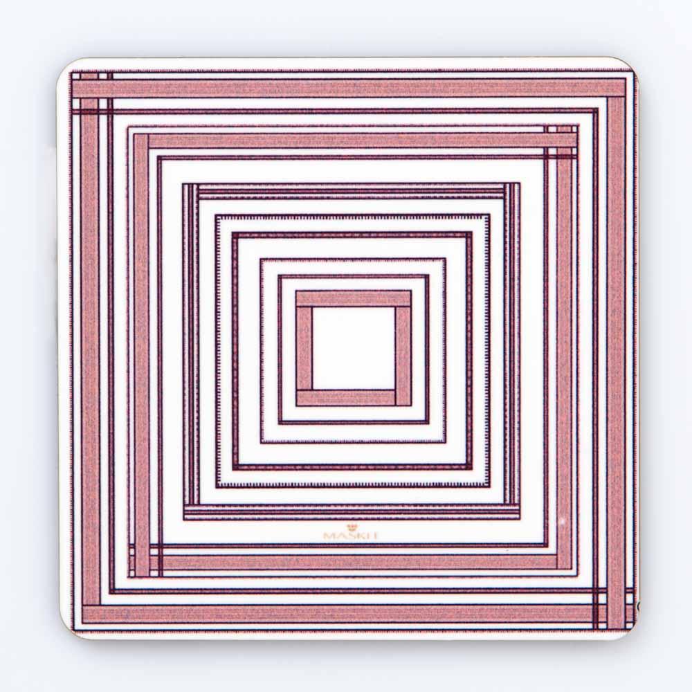 Stripe Coaster In Brown Tones