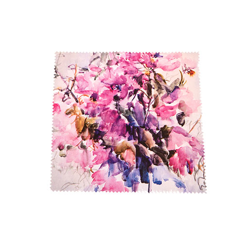 """Microfiber Cloth For Cleaning Glasses – """"Bougainvillea"""" Pattern"""