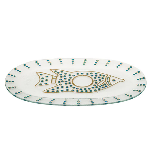 Glass Fish Serving Plate – Turquoise