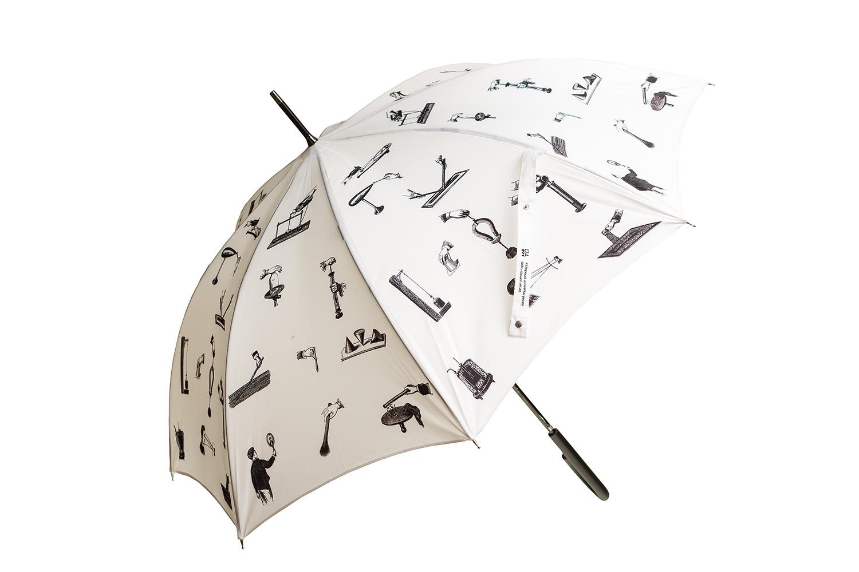 Umbrella With Scientific Discoveries Design (white)