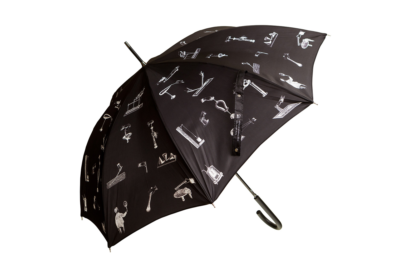 Umbrella With Scientific Discoveries Design (black)