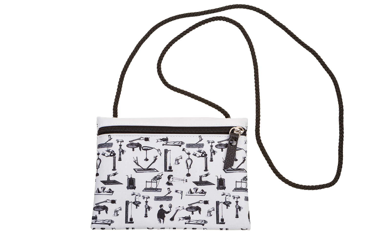 Passport Pouch With Scientific Illustrations