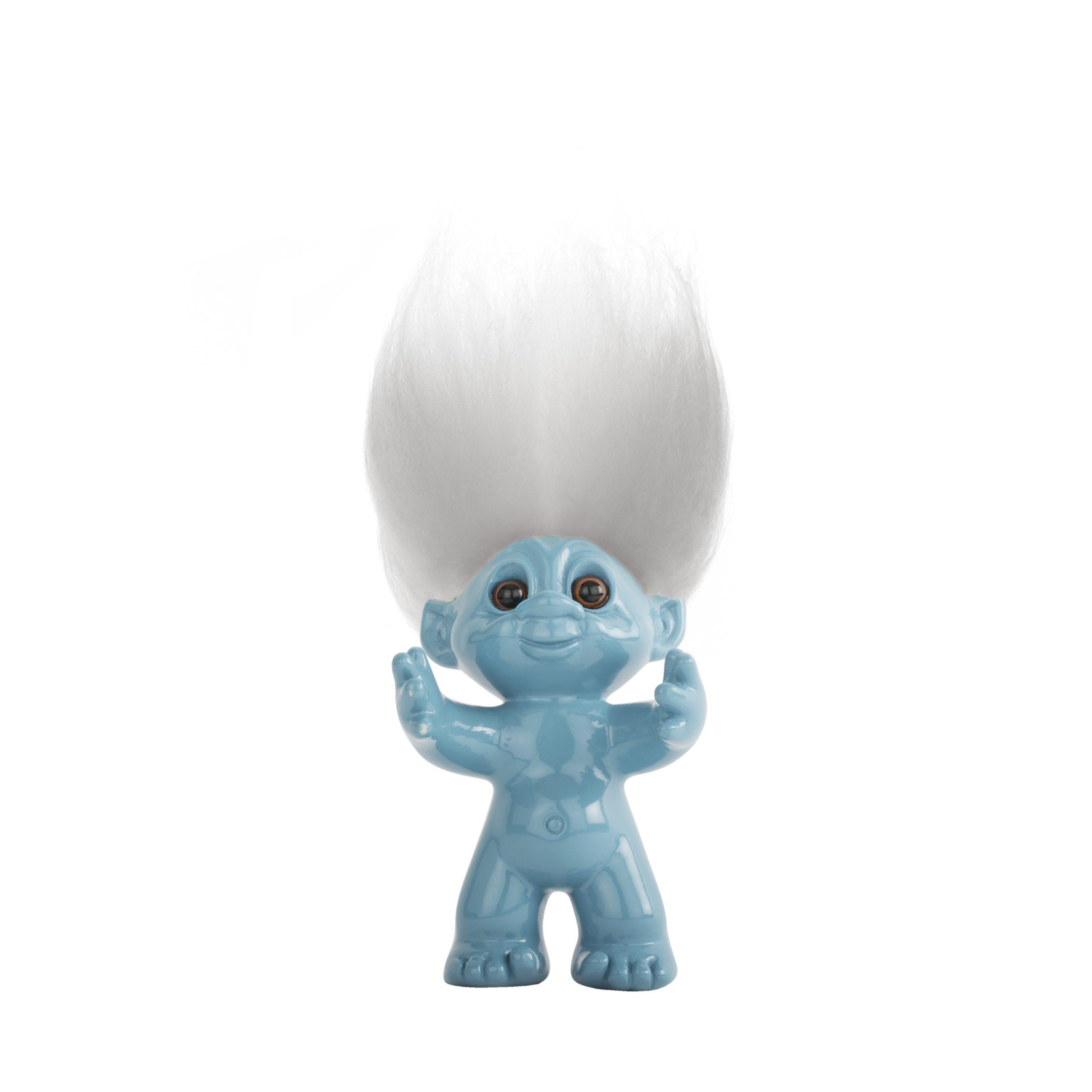Goodluck Troll – Blue With White Hair
