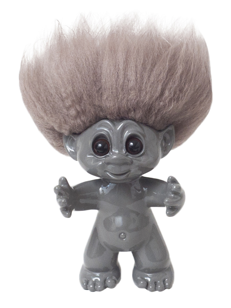 Goodluck Troll – Gray With Beige Hair