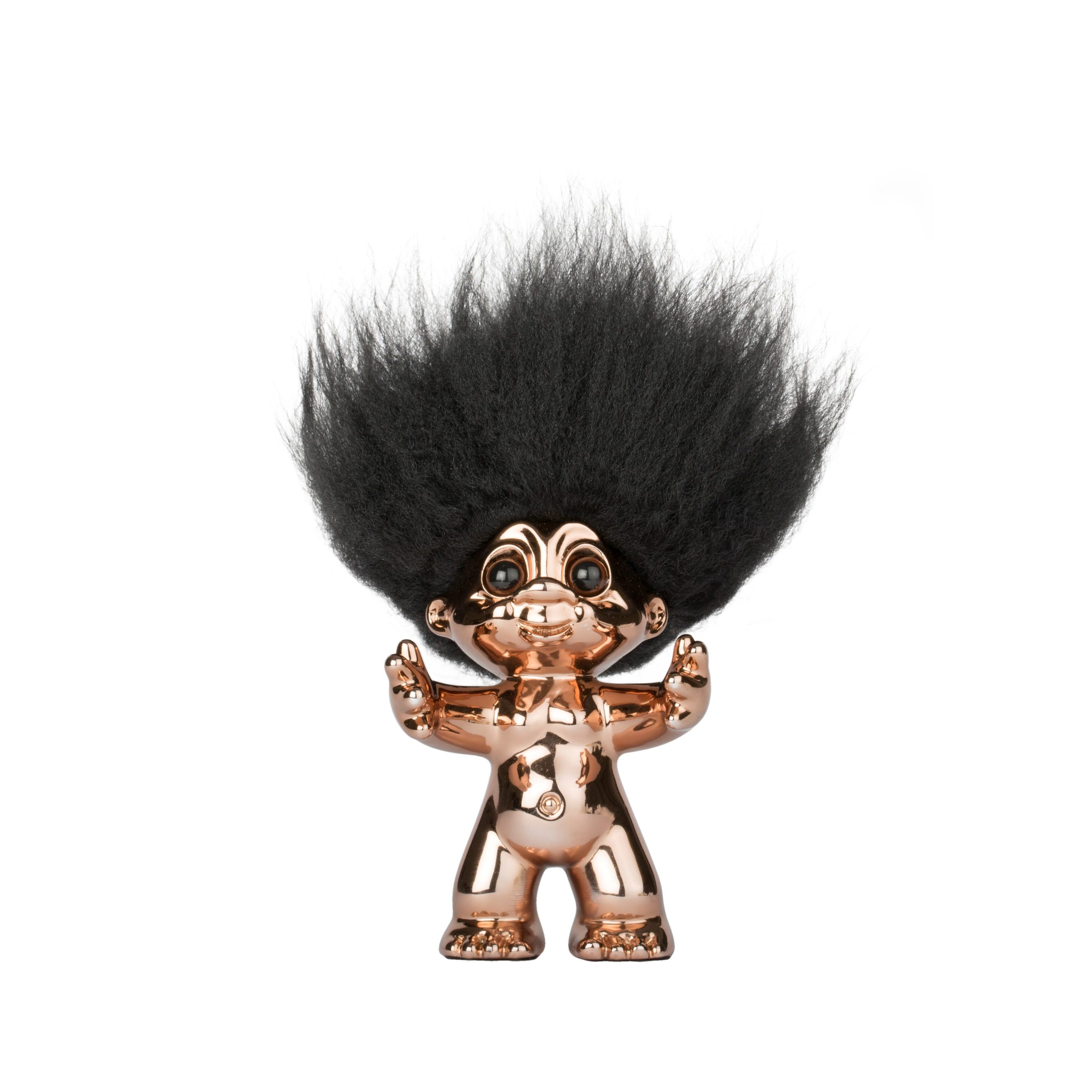 Goodluck Troll – Bronze Color With Black Hair