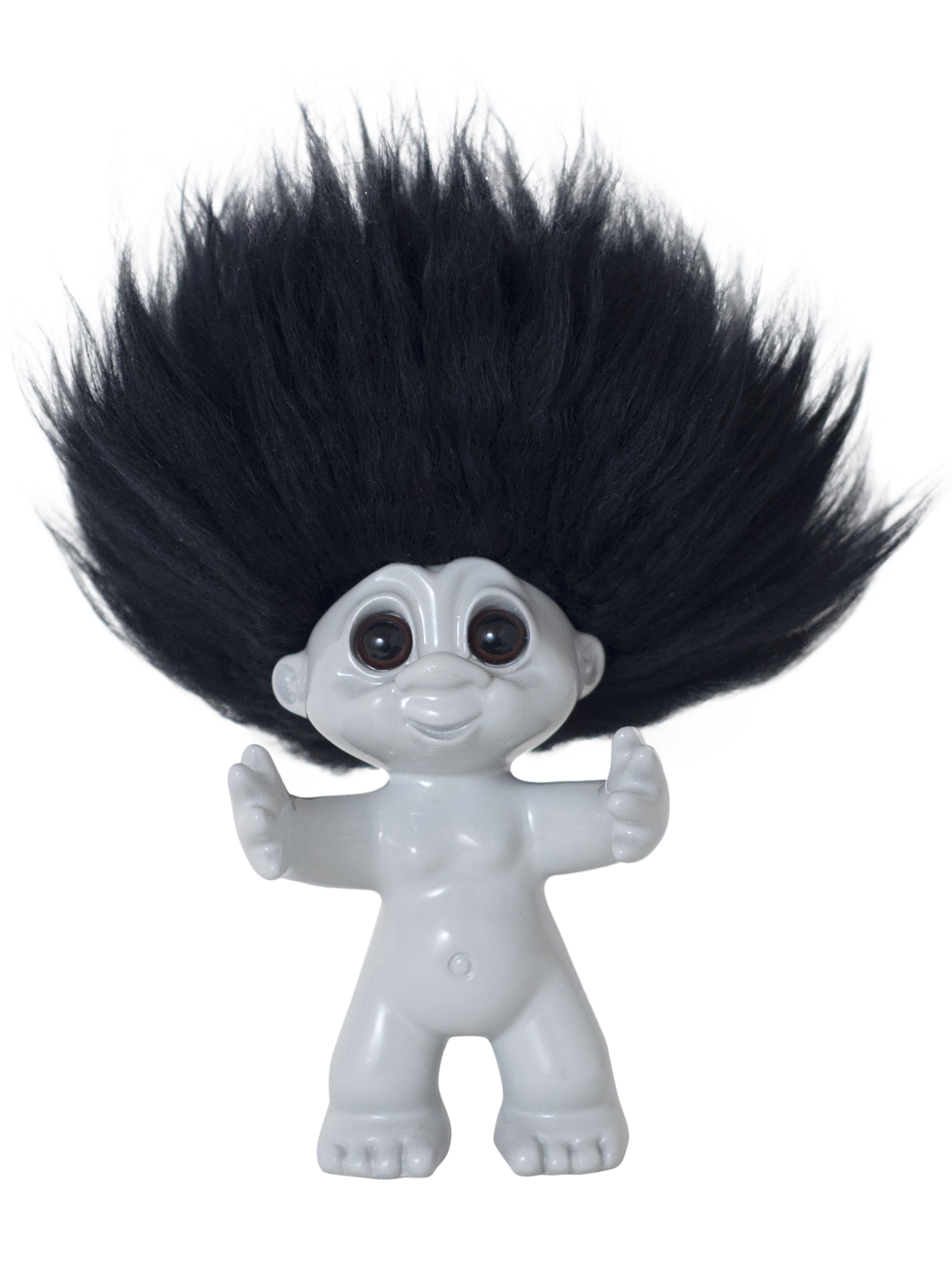 Goodluck Troll – Gray With Black Hair