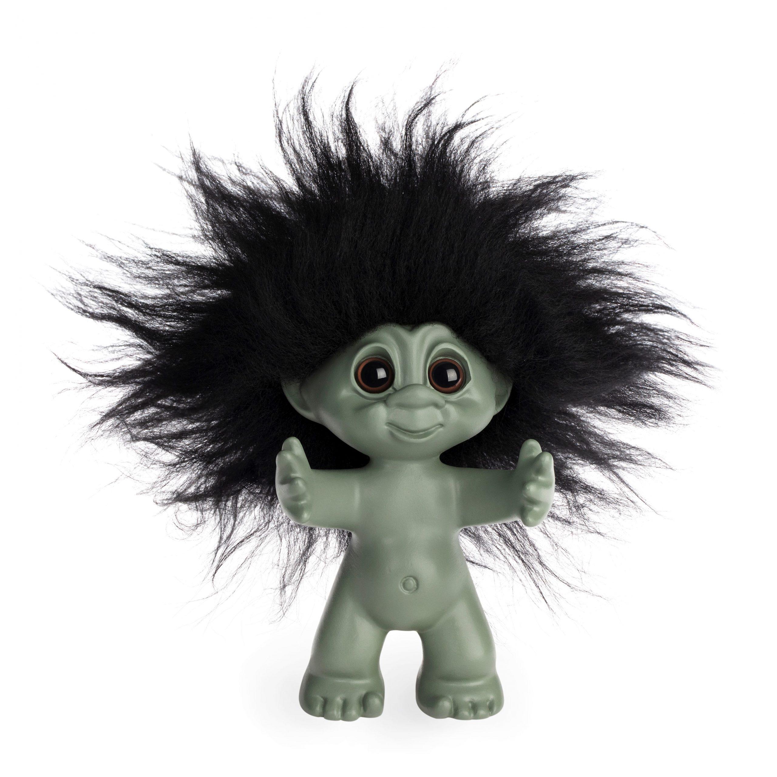 Goodluck Troll – Green With Black Hair