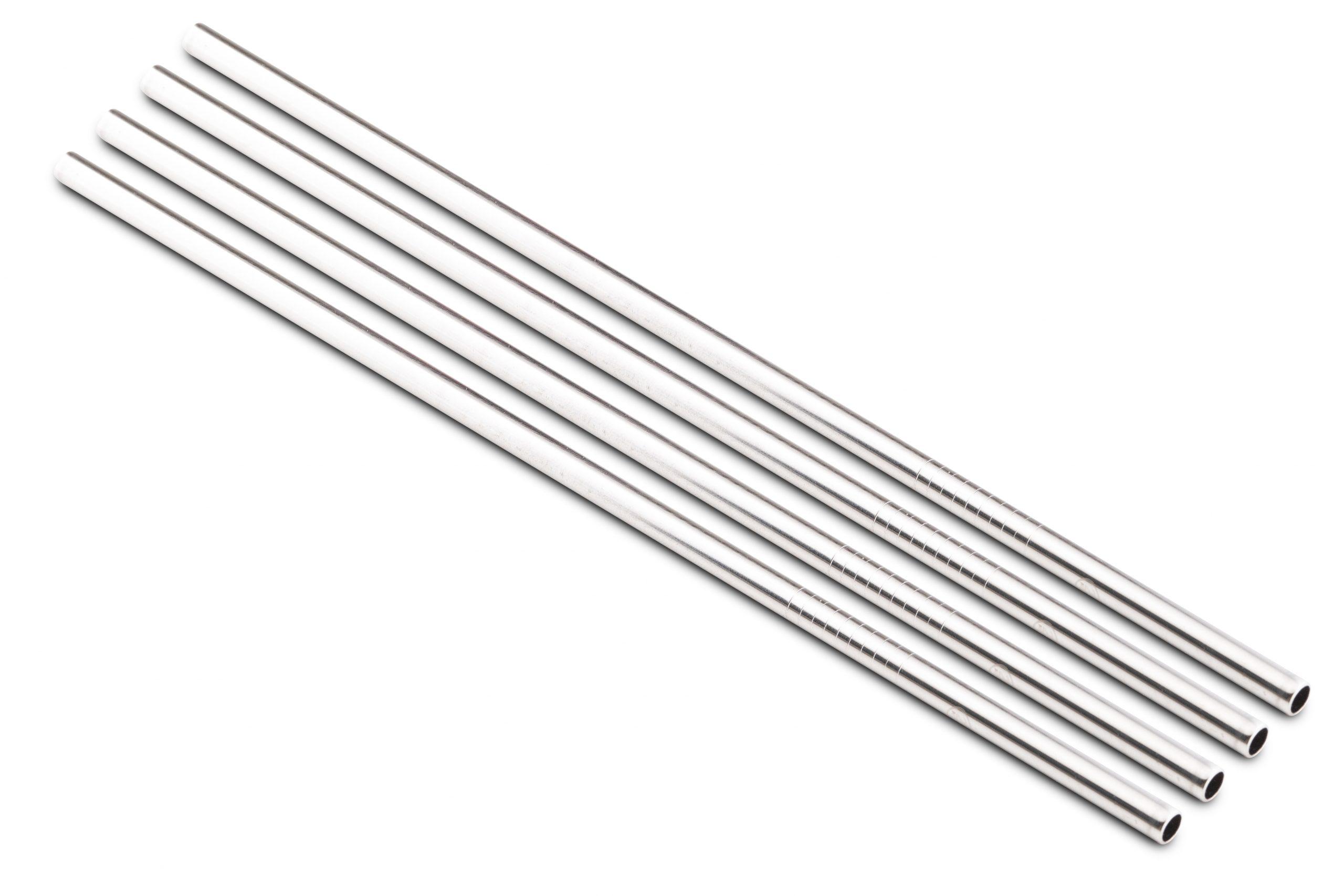 24bottles® Stainless Steel Reusable Straws – Set Of 4