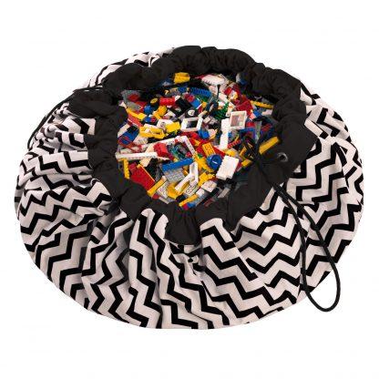 The Play&Go® Bag – Black Zigzag