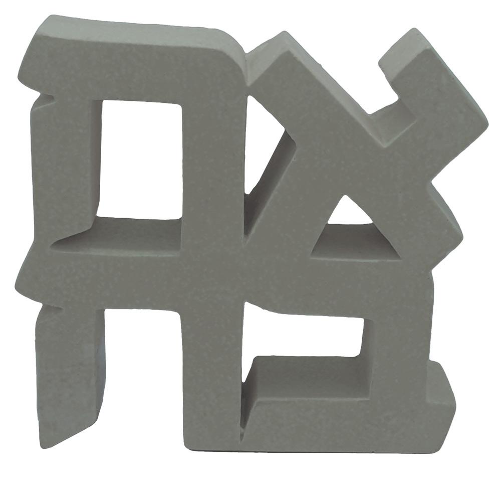 Ahava Paperweight (gray Concrete)