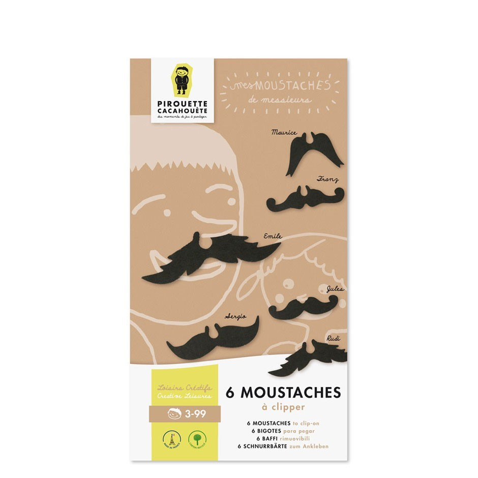 Clip-On Mustaches Creative Kit