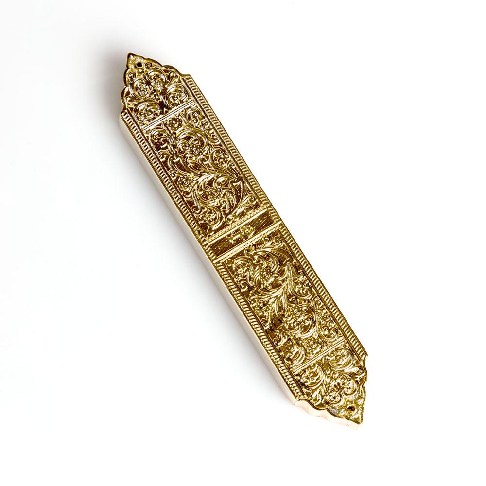 Mezuzah Case – Gilded Brass