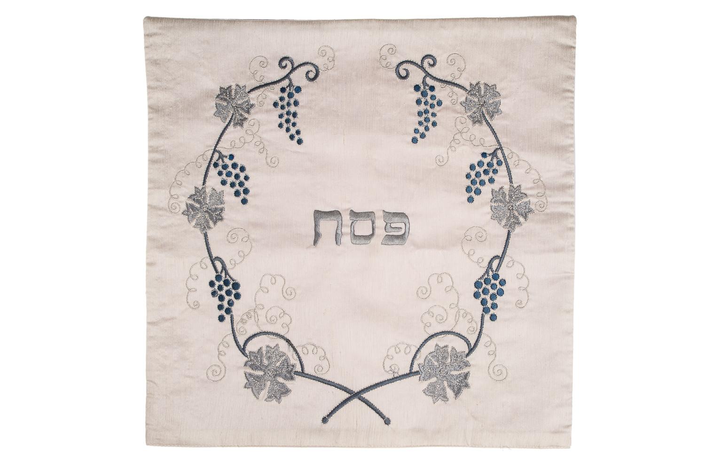 Matzah Cover – Silver Vine