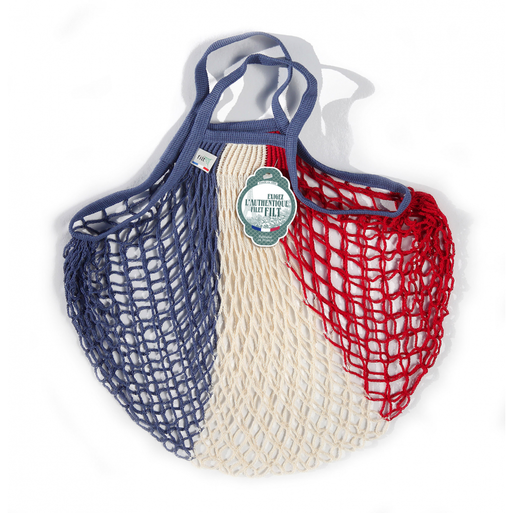 Filt Mesh Shopping Bag With Small Handle – Tricolor
