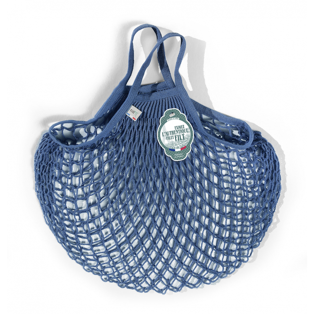 Filt Mesh Shopping Bag With Small Handle – Blue