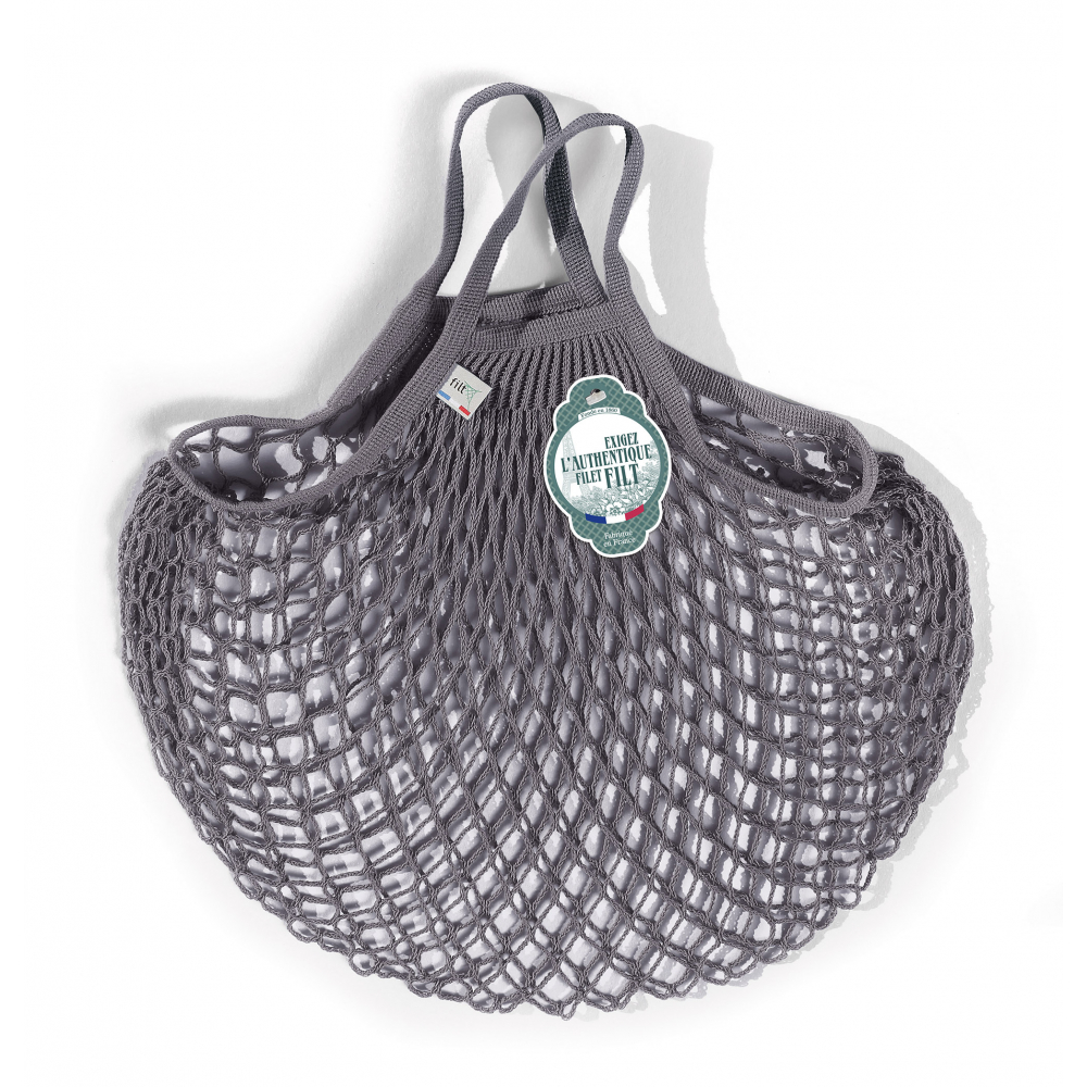Filt Mesh Shopping Bag With Small Handle – Gray