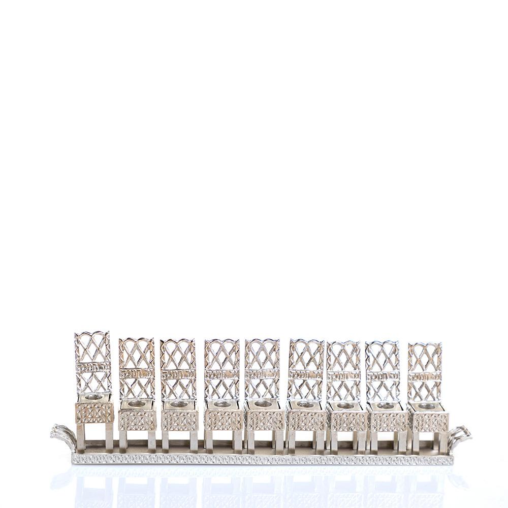 Hanukkah Lamp – Little Chair Design (Silver)
