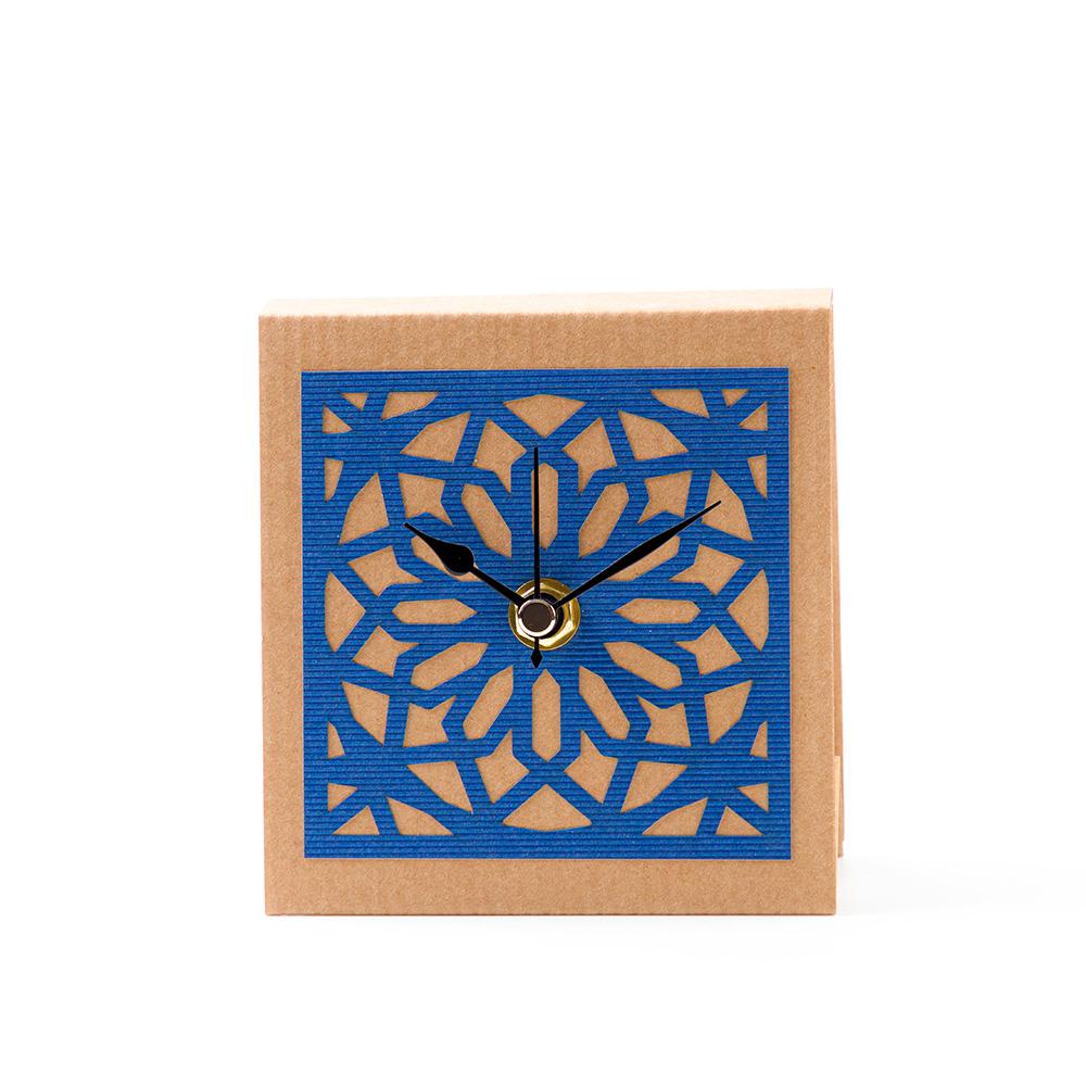 Temple Mount Arabesque Table Clock – Blue