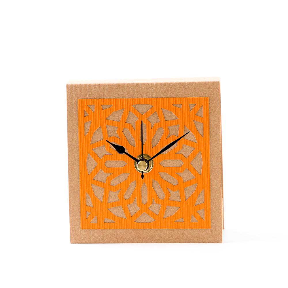 Temple Mount Arabesque Table Clock – Orange