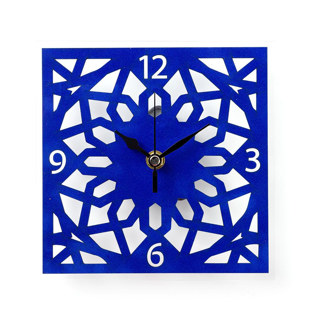 Temple Mount Arabesque Wall Clock – Blue