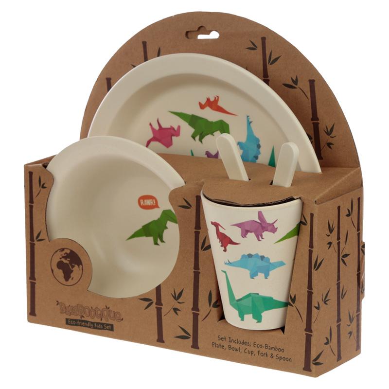 Dinosaur Reusable Bamboo Kids' Set